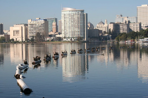 View of Oakland from Lake Merritt